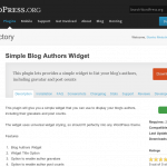 Simple Blog Authors Widget